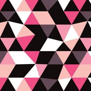 Pastel modern geometric triangle pattern pink