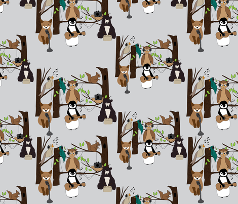 Rock-and-Roll-Animals fabric by vieiragirl on Spoonflower - custom fabric