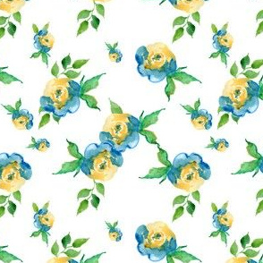 Blue Roses - Floral Print