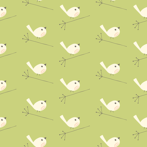sparrows pear fabric by shindigdesignstudio on Spoonflower - custom fabric