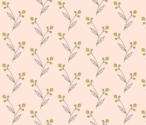 spring_buds_blush fabric by shindigdesignstudio on Spoonflower - custom fabric