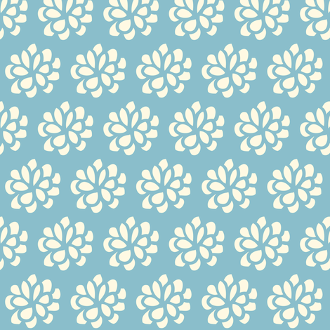 mums ocean blue fabric by shindigdesignstudio on Spoonflower - custom fabric