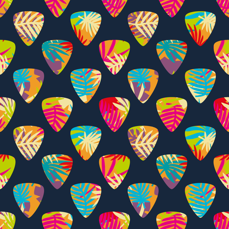 Palm Picks fabric by seesawboomerang on Spoonflower - custom fabric