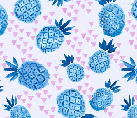 Pineapple Breeze fabric by c_manning on Spoonflower - custom fabric