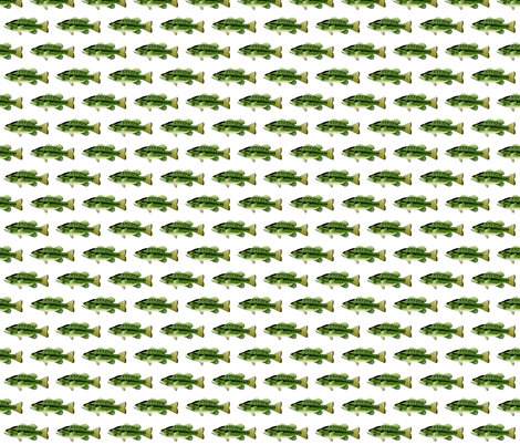 Largemouth Bass Pattern fabric by combatfish on Spoonflower - custom fabric