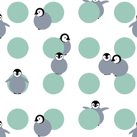 baby penguin polka small scale fabric by victorialasher on Spoonflower - custom fabric