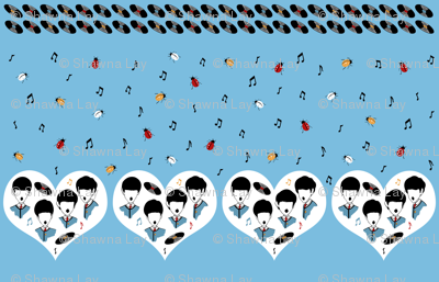 Beatles Love Music Novelty Border Print