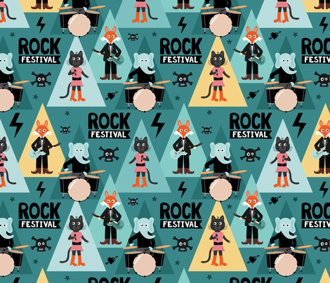 Rock_festival fabric by la_fabriken on Spoonflower - custom fabric