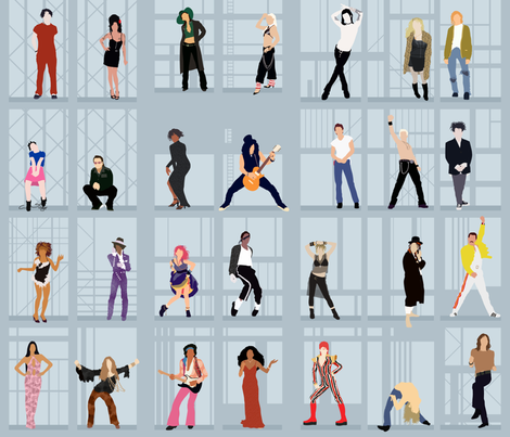 Rock-n-Roll Icons fabric by aalk on Spoonflower - custom fabric