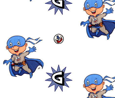 SuperG1 fabric by stickelberry on Spoonflower - custom fabric