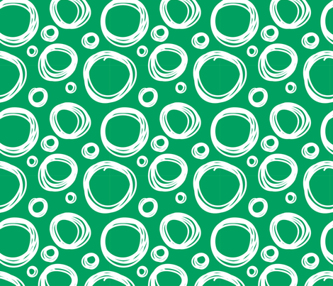 Scribble_Poka_Dots_Green fabric by khaus on Spoonflower - custom fabric