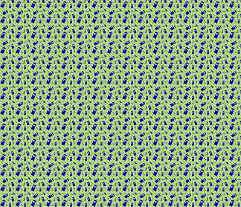 Police Box Attack 4-Leaf Clover Stripe -6/2.67/337 fabric by lilbabythangs on Spoonflower - custom fabric