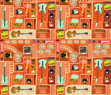 Vinyl junkie fabric by skbird on Spoonflower - custom fabric