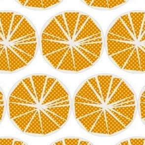 Citrus Yellow Flower Slice