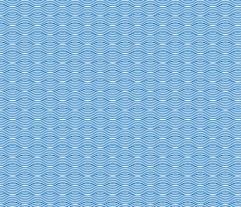 Blue and White Wave Asian Stripes fabric by khaus on Spoonflower - custom fabric