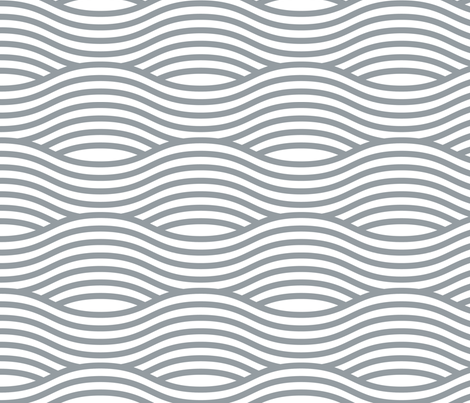 Grey and White Wave Asian Stripes fabric by khaus on Spoonflower - custom fabric