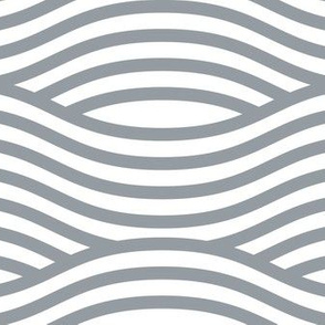 Grey and White Wave Asian Stripes