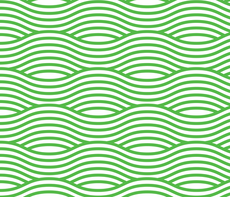 Green and White Wave Asian Stripes fabric by khaus on Spoonflower - custom fabric