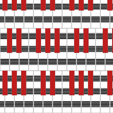 Fascinatin' Rhythm by Su_G fabric by su_g on Spoonflower - custom fabric