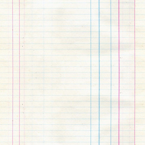 Vintage Lined Note Paper Ledger