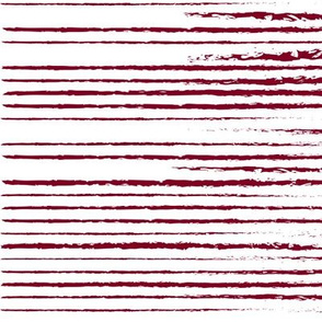 Garnet and White Stripes Distressed