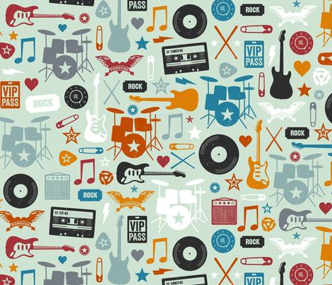 I Love Rock & Roll fabric by jenimp on Spoonflower - custom fabric