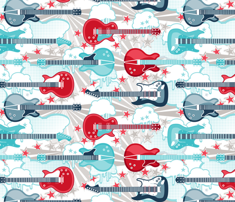 Rock and Roll fabric by cjldesigns on Spoonflower - custom fabric