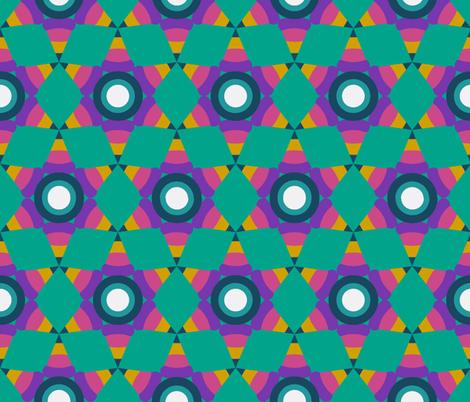 Pinata Stars Turquoise fabric by joeyuk on Spoonflower - custom fabric
