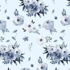 Blue Floral - Light Blue