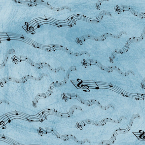 Music Notes Blue