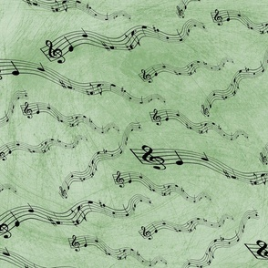 Music Notes Green