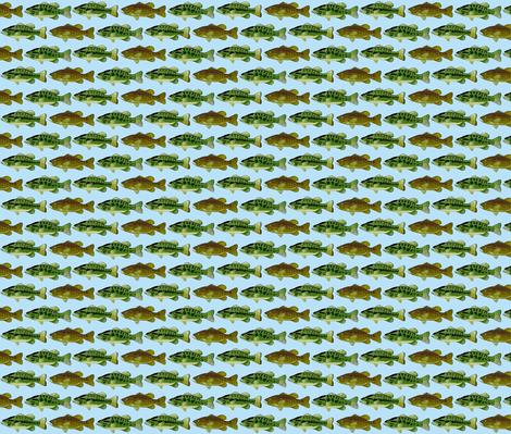 3 black bass lt blue background-ch fabric by combatfish on Spoonflower - custom fabric