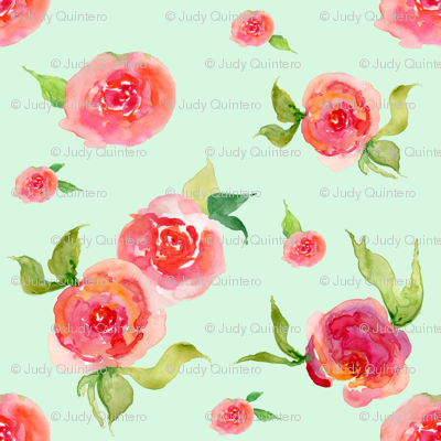 Mini Red Roses Mint