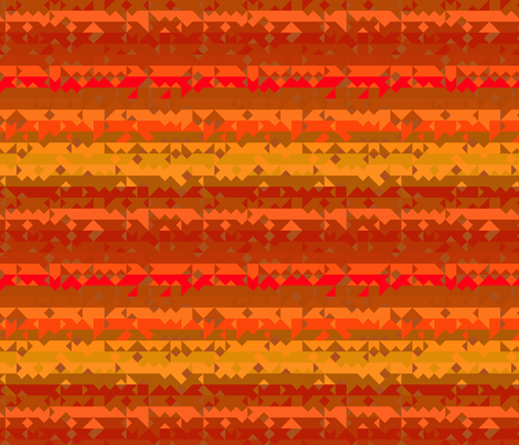 Orange and Yellow Tribal Stripe fabric by gingezel on Spoonflower - custom fabric