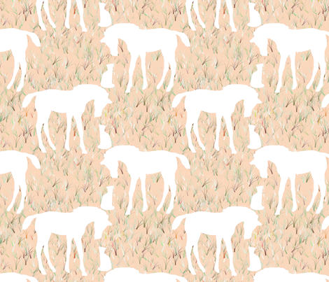 Custom New Here White fabric by eclectic_house on Spoonflower - custom fabric