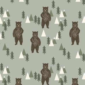 forest bear // camping trees forest woodland outdoors kids nursery baby decor