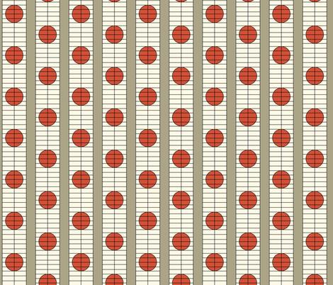 16-16AW Modern Shoji Screen || Taupe Cream Red Orange Brown Japan Japanese Circle Spots Dots _ Miss Chiff Designs fabric by misschiffdesigns on Spoonflower - custom fabric