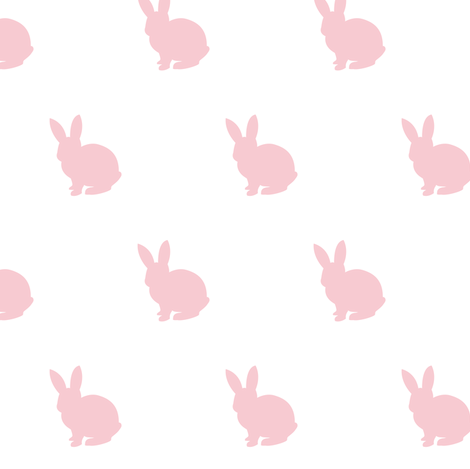 Pink bunny solid fabric by mintpeony on Spoonflower - custom fabric