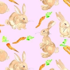 easter bunnies and carrots