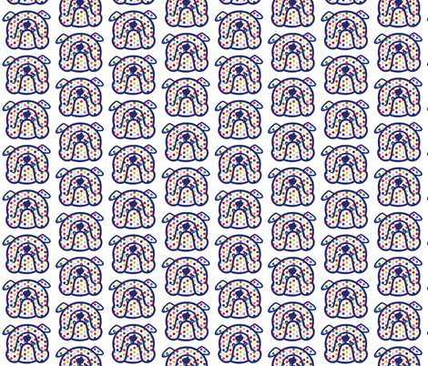 English Bulldog fabric with fun polka dots fabric by cheeky~hodgepodge on Spoonflower - custom fabric