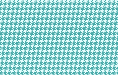 cats-tooth in turquoise (small scale) fabric by eleventy-five on Spoonflower - custom fabric
