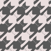 cats-tooth in grey and light pink (large scale)