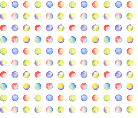 Watercolor Moon Phases fabric by anom-aly on Spoonflower - custom fabric
