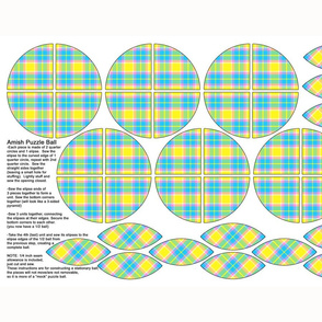 Amish Puzzle Ball - Spring Plaid