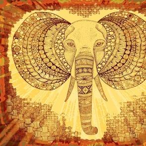Elephant zen burnt orange