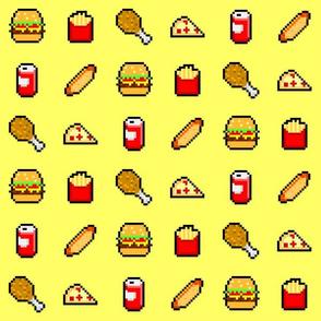 8-Bit Fast Food - Yellow