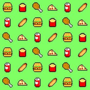 8-Bit Fast Food - Green