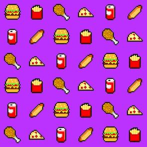 8-Bit Fast Food - Purple