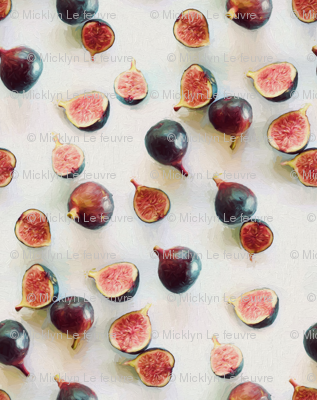 Fresh Figs on Linen - faded version