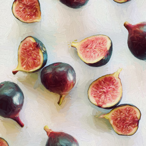 Fresh Figs on Linen - faded version fabric by micklyn on Spoonflower - custom fabric